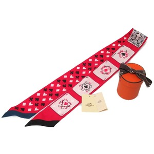 Like Hermes Jeu De Cartes Cardigan Pattern Scarf Silk 100% Quetch Rouge Noir Aldoors 0235 Hmes