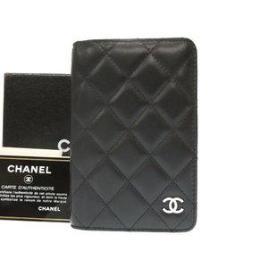 Chanel Matrasse System Notebook Cover Agenda Coco Mark Black 0141