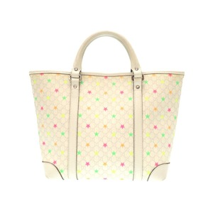 Gucci Bear Kids Line 297557 Micro Gg Supreme Star Mini Handbag Ivory 0143