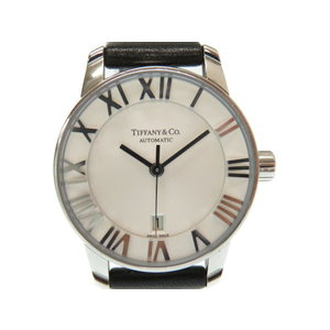 Tiffany Atlas Dome Automatic Ladies Watch Z1830.68.10 A 2150 Back Scale White Dial 0358