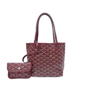 Goyar Saint Louis Junior Pvc Leather Bordeaux Handbag Bag As New 0032 Goyard