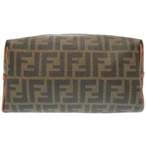 Fendi Zucca Pattern Second Bag Pvc Brown Mens 0062 Clutch