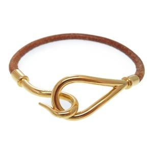 Hermes Jumbo Bracelet Gold / Brown 0016 Hmes Accessories
