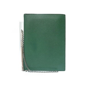 Hermes Agenda Gm / Chain With Ballpoint Pen Notebook Cover Kushubel Silver 925 Green O V Stamped 0169 Hmes