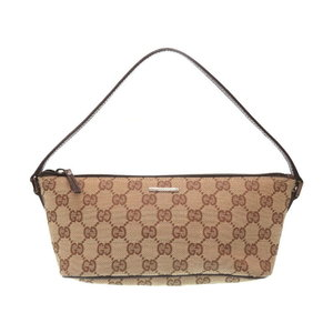 Gucci Gg Canvas Beige Handbag Bag Ladies 0179
