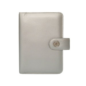 Chanel Coco Button Mark Silver Notebook Cover Agenda 0058