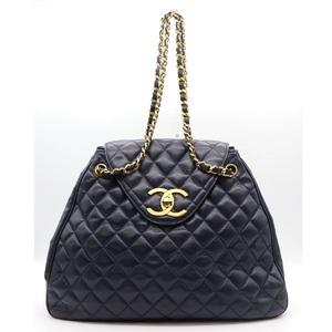 シャネル(Chanel) マトラッセ レディース レザー ショルダーバッグ ネイビー