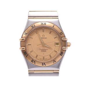 中古 オメガ コンステレーション 1252.10 パーペチュアルカレンダー SS/YG シャンパン文字盤 クオーツ メンズ 腕時計 OMEGA◇