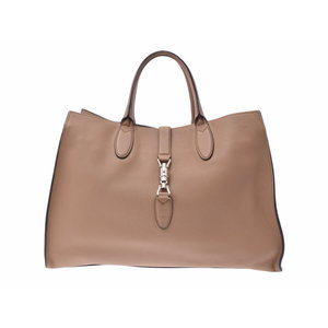Used Gucci Tote Bag Jackie Leather Beige Sv Hardware ◇