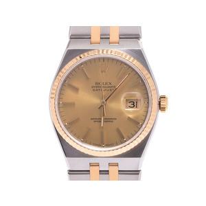 中古 ロレックス オイスタークォーツ 17013 N番 YG/SS クオーツ 腕時計 国際サービス保証書 メンズ ROLEX◇