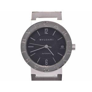 中古 ブルガリ ブルガリブルガリ BB33SS SS 黒文字盤 自動巻 腕時計 メンズ レディース BVLGARI◇