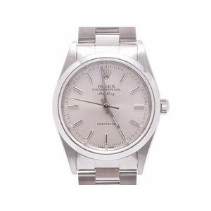 中古 ロレックス エアキング 14000 A番 SS シルバー文字盤 箱 ギャラ 腕時計 自動巻 メンズ ROLEX◇