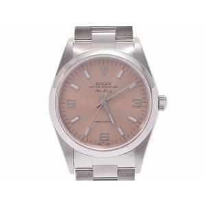 中古 ロレックス エアキング 14000M SS P番 ピンク文字盤 ギャラ メンズ レディース 腕時計 ROLEX◇