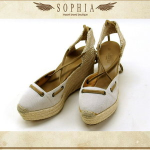 Hermes Espadrilles Costa Size 38 Beige Soled Goods 20130731