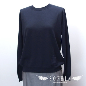 Hermes Cashmere Silk Sweater Navy Blue Size 38 Sold Goods 20180731