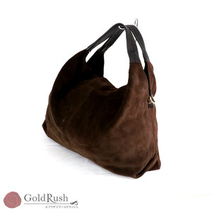 Furla Suede Shoulder Bag Handbag 2way Brown