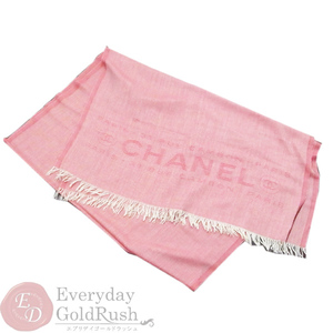 Beauty Goods Chanel Large-size Stall Scarf Muffler Red Cashmere Ladies Cambon Pari