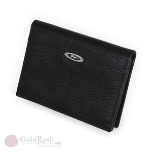 Salvatore Ferragamo Business Card Holder Case Leather Black