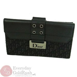 Christian Dior Christtan Dior Christian W Hook Double Sided Purse Black