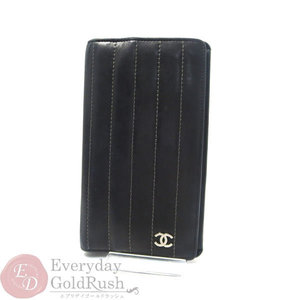 Chanel Fold Wallet Coco Mark Black