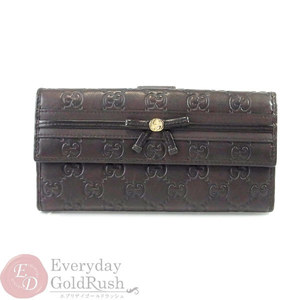 91b75472844e Gucci Sima Leather Gg Double Sided Wallet 256933 Brown Chocolate Ribbon