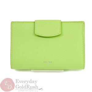 Unused Celine Wallet Purse Medium Multifunction Lime