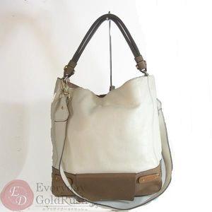 Furla White 2way Handbag Shoulder Strap A4 Size Women's Leather