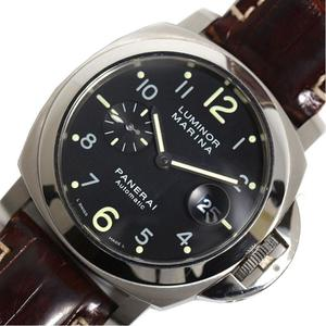 Panerai Luminor Marina Pam00164 Automatic Men's Black Wrist Watch