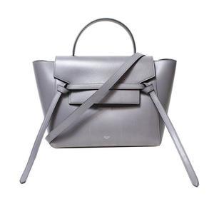 Celine Belt Bag Mini 176103 Gray Handbag Women's