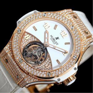 Hublot Big Bang Tutti Frutti Tourbillon Limited 18pcs 345.pe.2010.lr.1704 Hand Winding Pg Solid Diamond Watch