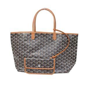 Goyar Goyard Saint Louis Pm Black × Tote Bag With Brown Pouch Shoulder Women's