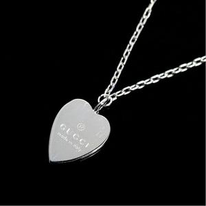 Gucci Trademark Heart Pendant 272605 J8500 9000 K18wg Ladies Necklace Jewelry Finished