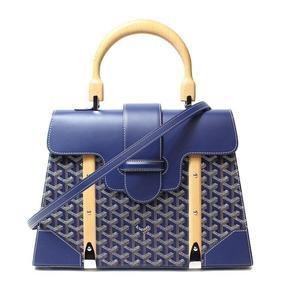Goyar Goyard Saigon Mm Blue 2 Way Handbag Women's