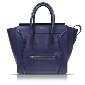 Celine Luggage Mini Shopper 165213 Navy Handbag Ladies