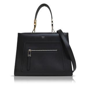 Fendi Runaway Mini 2way Handbag Black 8bh344 Women's