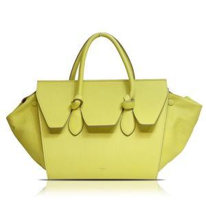 Celine Thai 173823 Yellow Handbag Women's