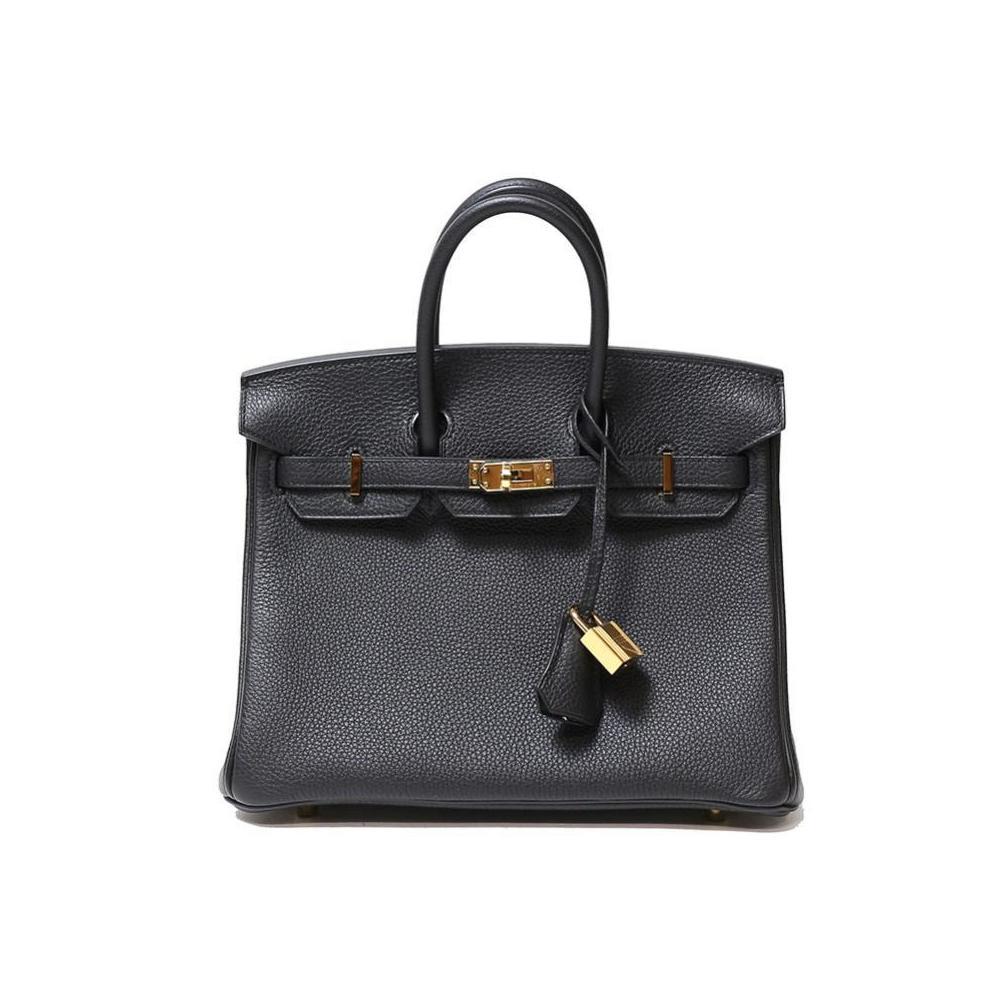 Hermes Birkin 25 Togo Black Gold Hardware C Instruction Handbag Women s f843a7f71f
