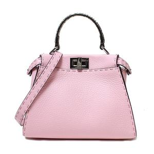 Fendi Mini Pekaboo 8 Bn 244 Celia Pink Silver Hardware 2 Way Bag Womens