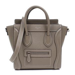 Celine Luggage Nano Shopper 168243 Sri Silver Hardware 2 Way Handbag Ladies
