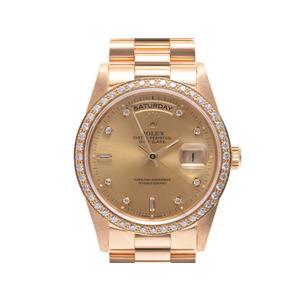 中古 ロレックス デイデイト 18348A YG ベゼルダイア L番 自動巻 腕時計 メンズ ROLEX◇