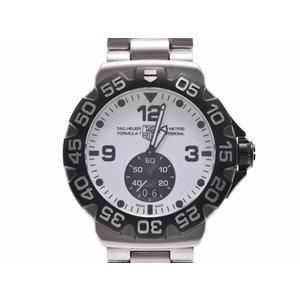 中古 タグホイヤー フォーミュラ1 グランドデイト WAH1011 SS 白文字盤 修理明細 クオーツ 腕時計 メンズ TAG Heuer◇