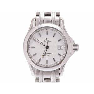 Used Omega Seamaster 120m 2851.21 Ss White Dial Plate Quartz Wristwatch Ladies ◇