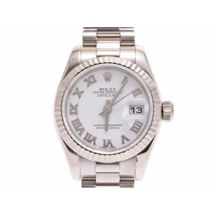 Used Rolex Datejust 179179 Wg D Number White Roman Dial Automatic Watch Women's ◇