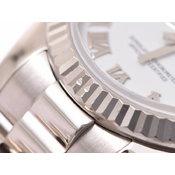 中古 ロレックス デイトジャスト179179 WG D番 白ローマ文字盤 自動巻 腕時計 レディース ROLEX◇