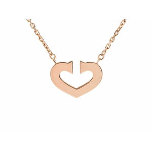658347c46a1 Used Cartier C Heart Necklace Yg 7.4g Box Galler ◇