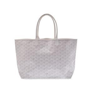 Used Goyard Saint Louis Pm Pvc White Bag With Pouch ◇