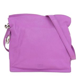Loewe Flamenco Leather Shoulder Bag Purple