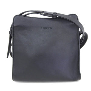 Loewe Logo Leather Shoulder Bag Black