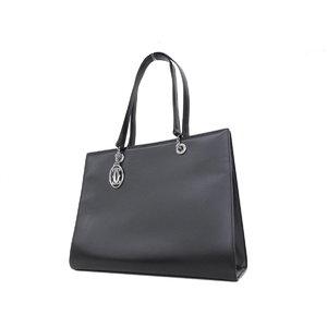 84e794ce08 Cartier Mastline Pantail Leather Tote Bag Black