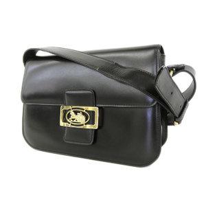 be749d99840a Celine Wagon Metal Fittings Leather Shoulder Bag Vintage Black